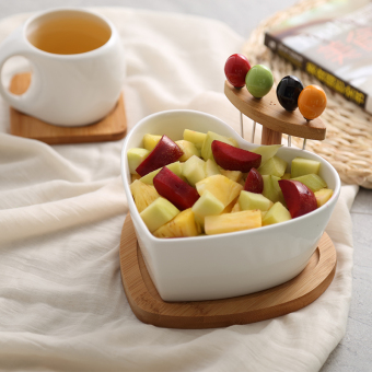 With fruit fork home water fruit bowl dried fruit bowl