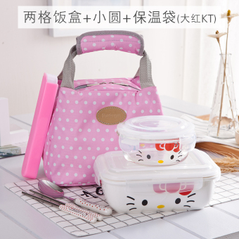 With lid ceramic container microwave lunch box