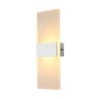 WOND 14*6cm LED Wall Lamp Bed-lighting Personal Ultra-thin Pathway Lamp with Rectangle Shape White Frame Warm White - intl - 3