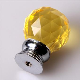 WOND 4pcs/set Crystal Glass Acrylic Door Knobs Drawer Cabinet Furniture  Handle Packgold   Intl Philippines