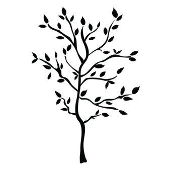 WOND Unique 157*119cm Tree Branches PVC Wall Sticker Home Decals Decor Accessory Black - intl
