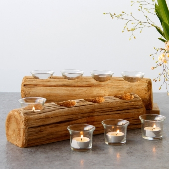 Wooden candle holder Christmas candle holder