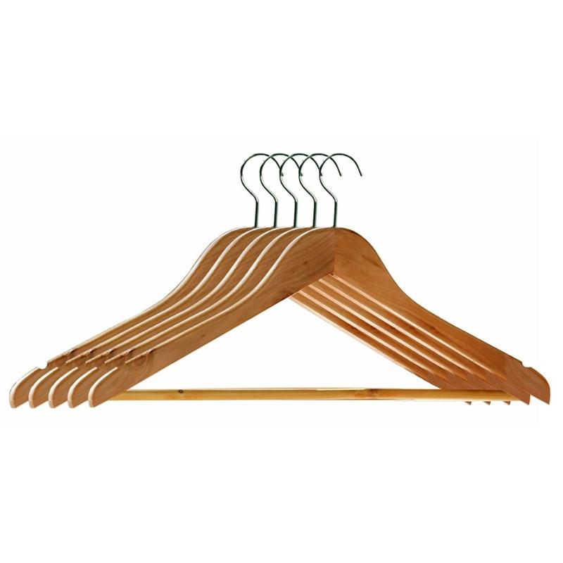 wooden clothes hangers slip grooved bar pack shirt uk baby coat target