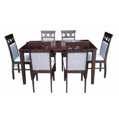 Wooden Dining Table And Chairs 6s With Cushion Seat CairoG