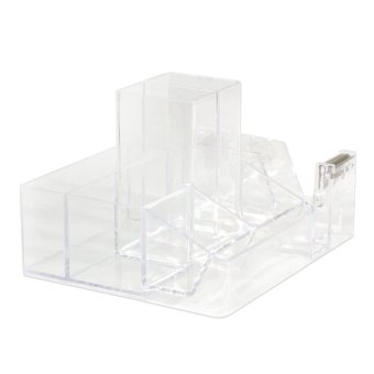 WORK360 Acrylic099 Crystal Clear Desk Organizer (Clear) - 2