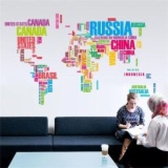 World Map Letter Quote Removable Vinyl Decal Art Mural Wall Stickers Home Decor - intl Price Philippines