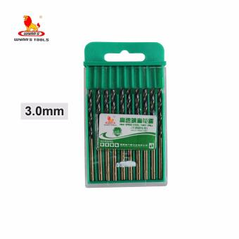 Wynn's 10 pcs. 3.0mm High Speed Metric Steel Twist Drill Bits (Green)