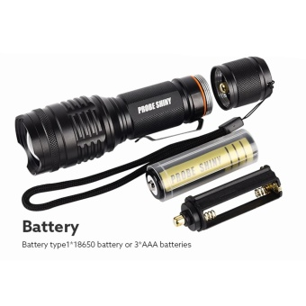 X800 Shadowhawk 6000lm Tactical Flashlight T6 LED Military Torch Gift Kit - intl - 5