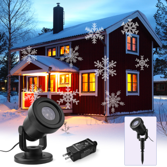 XCSOURCE Moving LED Projection Light White Snowflakes LED LandscapeLamp for Xmas LD933