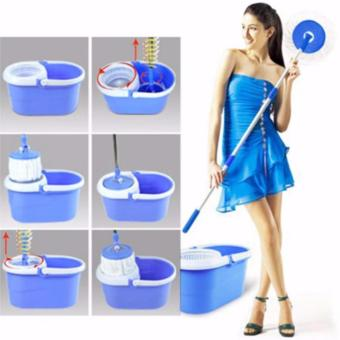 XZY New 360? Microfiber Magic Rotating Spin Head Easy CleaningFloor Mop Bucket Set (Color May Vary) - 5