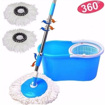XZY New 360? Microfiber Magic Rotating Spin Head Easy CleaningFloor Mop Bucket Set (Color May Vary)