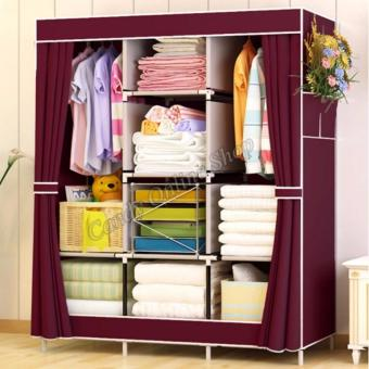 XZY OEM-1313 King Sized Waterproof Multifunctional Wardrobe CurtainDesign(Maroon) Price Philippines