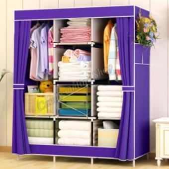 XZY OEM-1313 King Sized Waterproof Multifunctional Wardrobe CurtainDesign(Violet) Price Philippines
