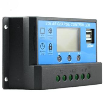 Y&H 30A PWM Solar Charge Controller LCD Dual USB 12/24V Solar Panel Regulator For Lead Acid Batteries OPEN AGM GEL KLD1230