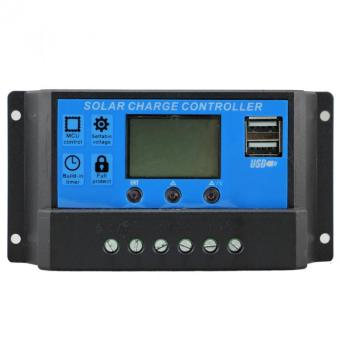 Y&H PWM Solar Charge Controller 40A 12V 24V Auto Regulator Over-load Protection Light Timer LCD Display Dual USB 5V