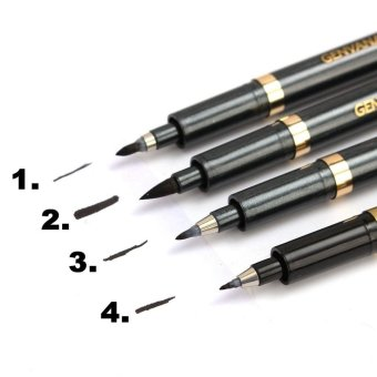 YBC 140mm Painting Chinese Calligraphy Shodo Brush Ink Pen Writing Painting Tool Craft Black - intl - 2