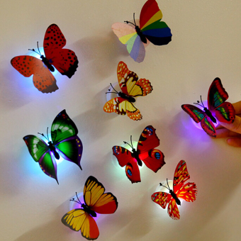 Yeguang led colorful small night lamp holiday Butterfly stickers