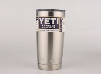 YETI Tumbler Cups 20 oz YETI Rambler Cooler Vacuum Insulated Vehicle Coffee Beer Mug Cups(Silver) - intl