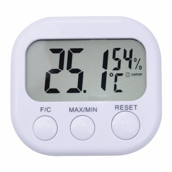 yieryi Mini Digital Thermometer Hygrometer Indoor LCD DisplayThermo Hygrometers With Stand for home Temperature Moisture meterClock Indoor temperature monitor humidity - intl