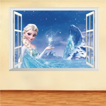 Yika 3D Disney Elsa Frozen Princess Wall Stickers Decals RemovableKids Room Decor - intl Price Philippines