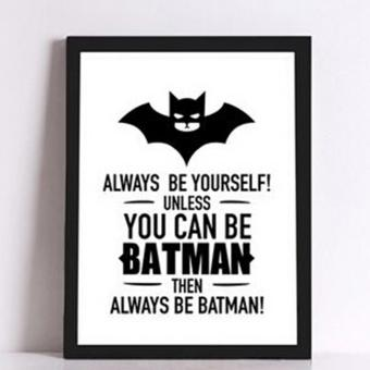 YingWei Batman Quote Canvas Art Print Poster Wall Sticker Photosfor Home Decor Living Room Corridor Art Wall Decor 30*40cm