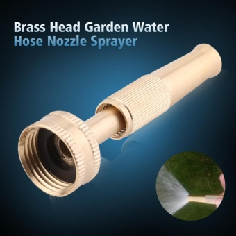 YOSOO Adjustable Brass Construction High Pressure Spray Head GardenWater Hose Nozzle Sprayer - intl