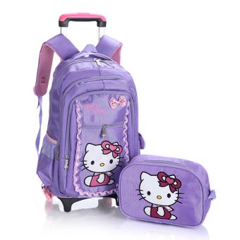 Young student's children's trolley school bag
