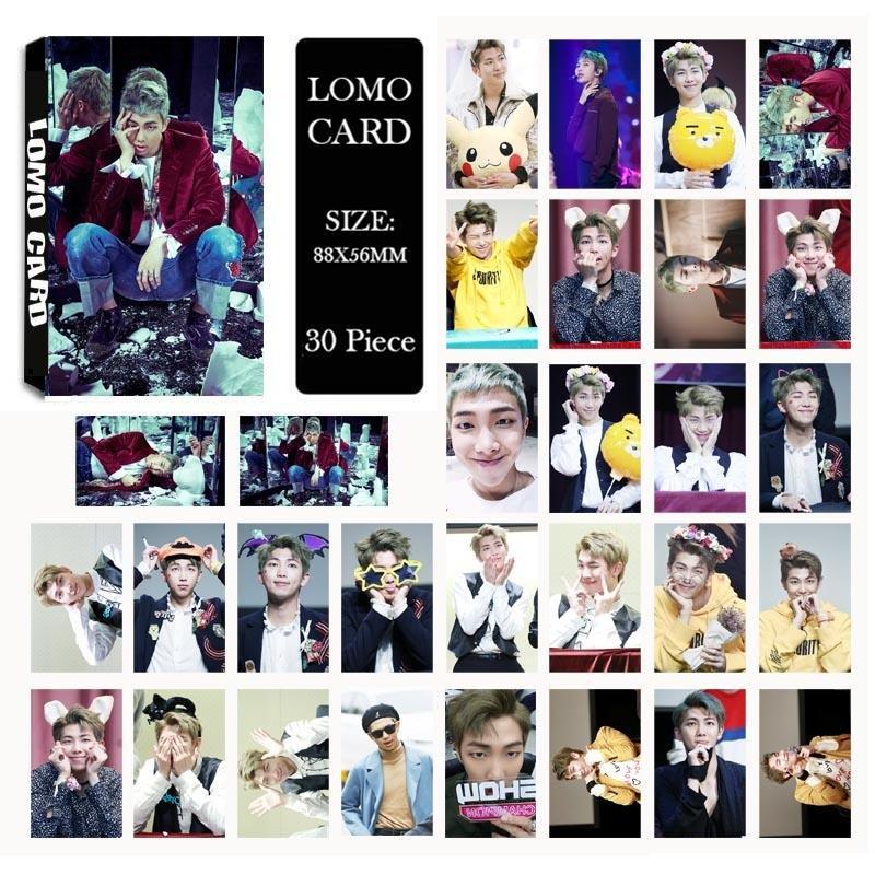 Youpop KPOP BTS Bangtan Boys WINGS Rap Monster Photo Album LOMOCards Self Made Paper Card HD