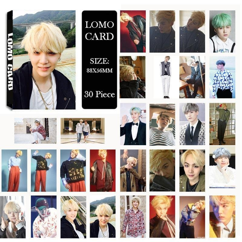 Youpop KPOP BTS Bangtan Boys Young Forever Part2 SUGA Photo AlbumLOMO Cards Self Made Paper Card