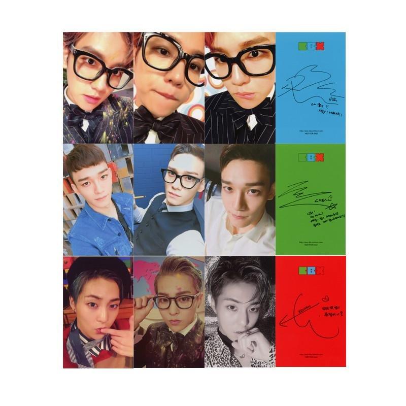 Youpop KPOP EXO CBX Hey Mama Album Photo Card Self Made Paper CardsAutograph Photocard XK388 -