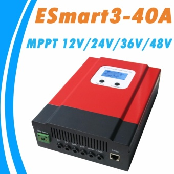 YSMART MPPT 40A Solar Charge Controller 48V/36V/24V/12V AutoBack-light LCD Display Max 130VDC Input Energy Saving - intl