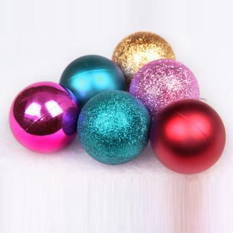 Yuletide Christmas Balls Round Shiny Multi-Texture Christmas DecorSET OF 30 (Medium, 5cm) - 2