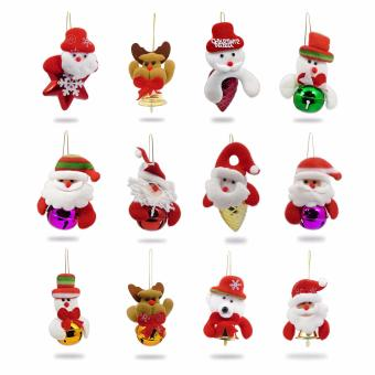 Yuletide Christmas Bells Bears Santa Reindeers Ribbons Frosty PineCone Snow Pine Nut Decors Balls Christmas Ball AlternativesChristmas Tree Inserts Xmas Tree Inserts SET OF 12