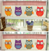 Zakka Cartoon Cotton Fabric Door Curtain