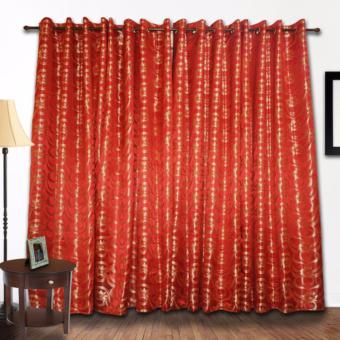 ZCurtains Bridgette Red Single Panel Curtain
