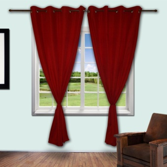 Zcurtains Venice Red Single Panel Curtain