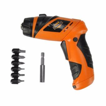 Zea Mini Portable Electric Drill Cordless Screwdriver 45pcs TOOLs(Orange)