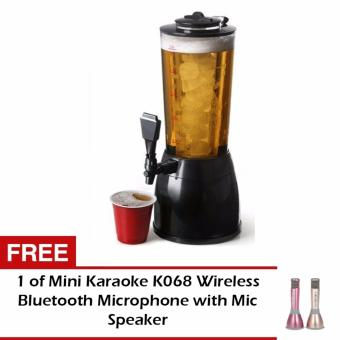 Zea New Ice Core Drink Beverage Dispenser Cold Juice Beer CocktailParty with FREE Mini Karaoke K068 Wireless Bluetooth Microphonewith Mic Speaker