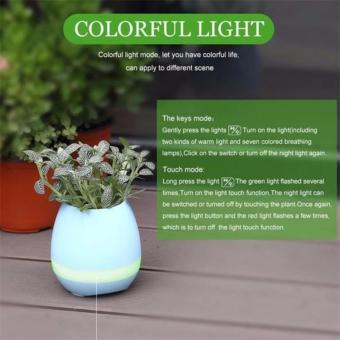 ZH-K3 Flowerpot Sensor Colorful LED Light Bluetooth Speaker (Blue) - 3