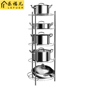 Zhuanjiao multi-home kitchen pot with storage rack pot rack