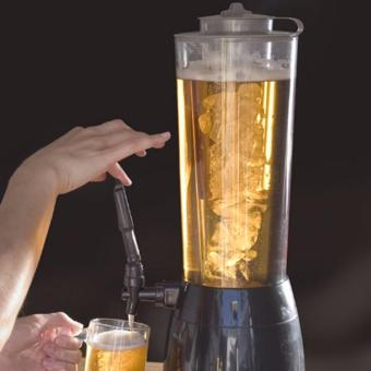 ZMB Beer Dispenser Tower 2.5L with LED Light and Ice Holder