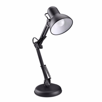 Zover Metal Adjustable Swing Arm Work Desk Lamp Table Lamp forReading, Study and Work (Black)