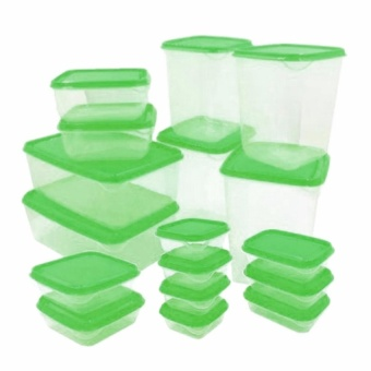 Zover Transparent Durable Container Plasticware Foodsaver 20-PieceSet Food-safe and Durable Stackable Containers Price Philippines