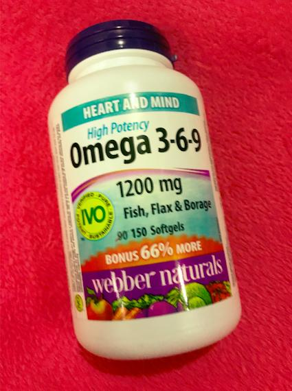 Webber Naturals Omega 3 6 9 1200 Mg Fish Flax Borage 150