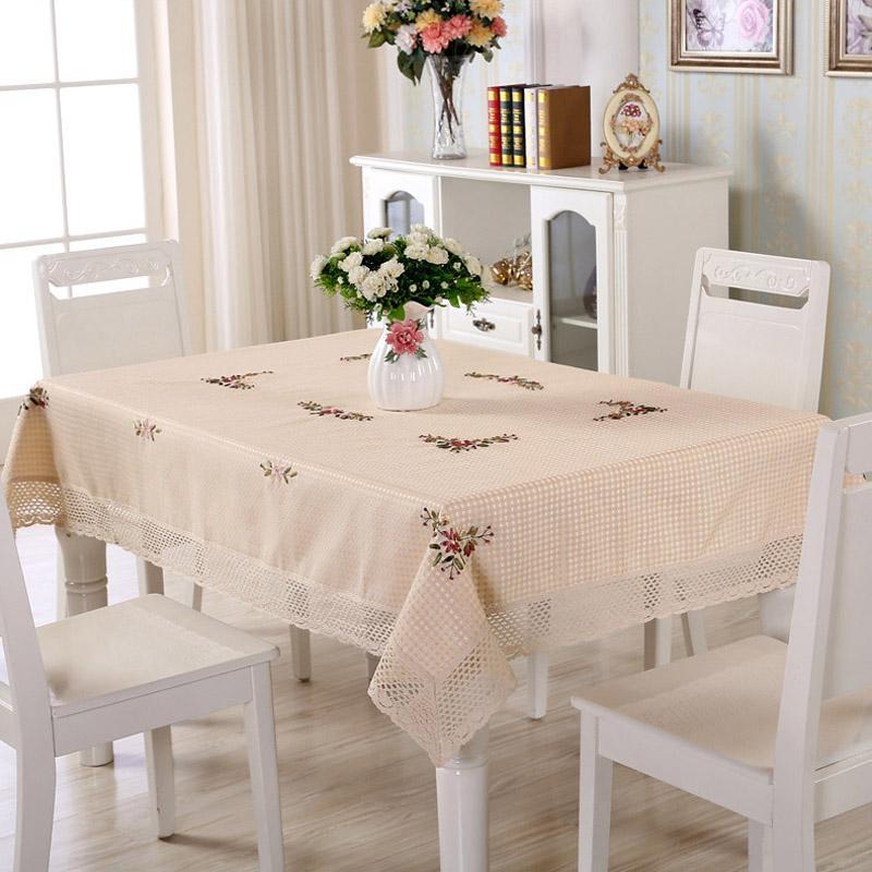 Shuoerjiaju taplak meja Kain Taplak meja makan kain penutup taplak kain meja teh Bundar bentuk persegi