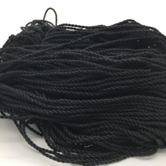 100 Pcs Durable Polyester String Multi Color Pro-poly Rope for Kids Children Yoyo Toy,Black - intl
