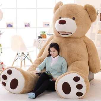 100cm-200cm America Giant Teddy Bear Plush Toys Soft Teddy Bear Skin Popular Birthday & Valentine's Gifts For Girls ,Kid's Toy - intl