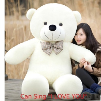 100CM Mile Can Say I Love You Birthday Gift Cute Lovely WhiteStuffed Toys Animal Teddy Bear Plush Soft Toy - intl Price Philippines