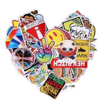 100pcs Doodle DIY Sticker Graffiti Decal Sticker for Laptop Bicycle - intl