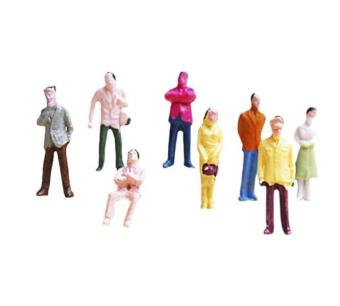 100pcs Painted Model Train People Figures Scale TT (1 to 100)